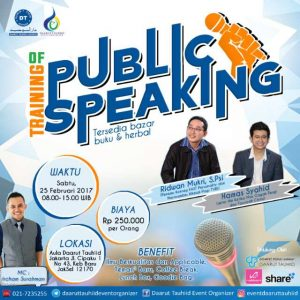 training public speaking daarut tauhid jakarta dinarafi