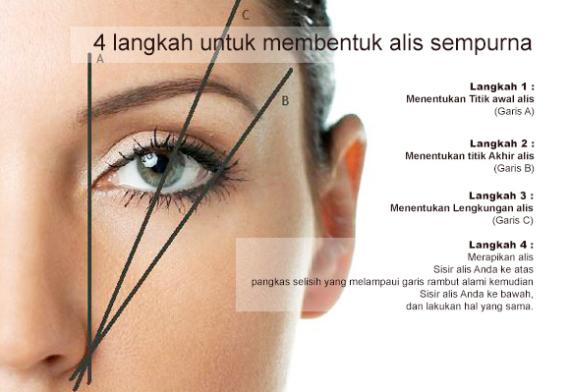 cara membuat alis mata natural dengan 4 langkah mudah