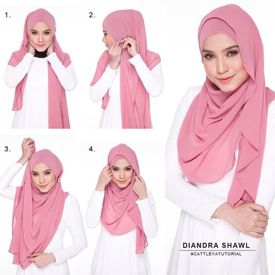Tutorial Hijab Pesta Segi Empat Simple Dinarafi