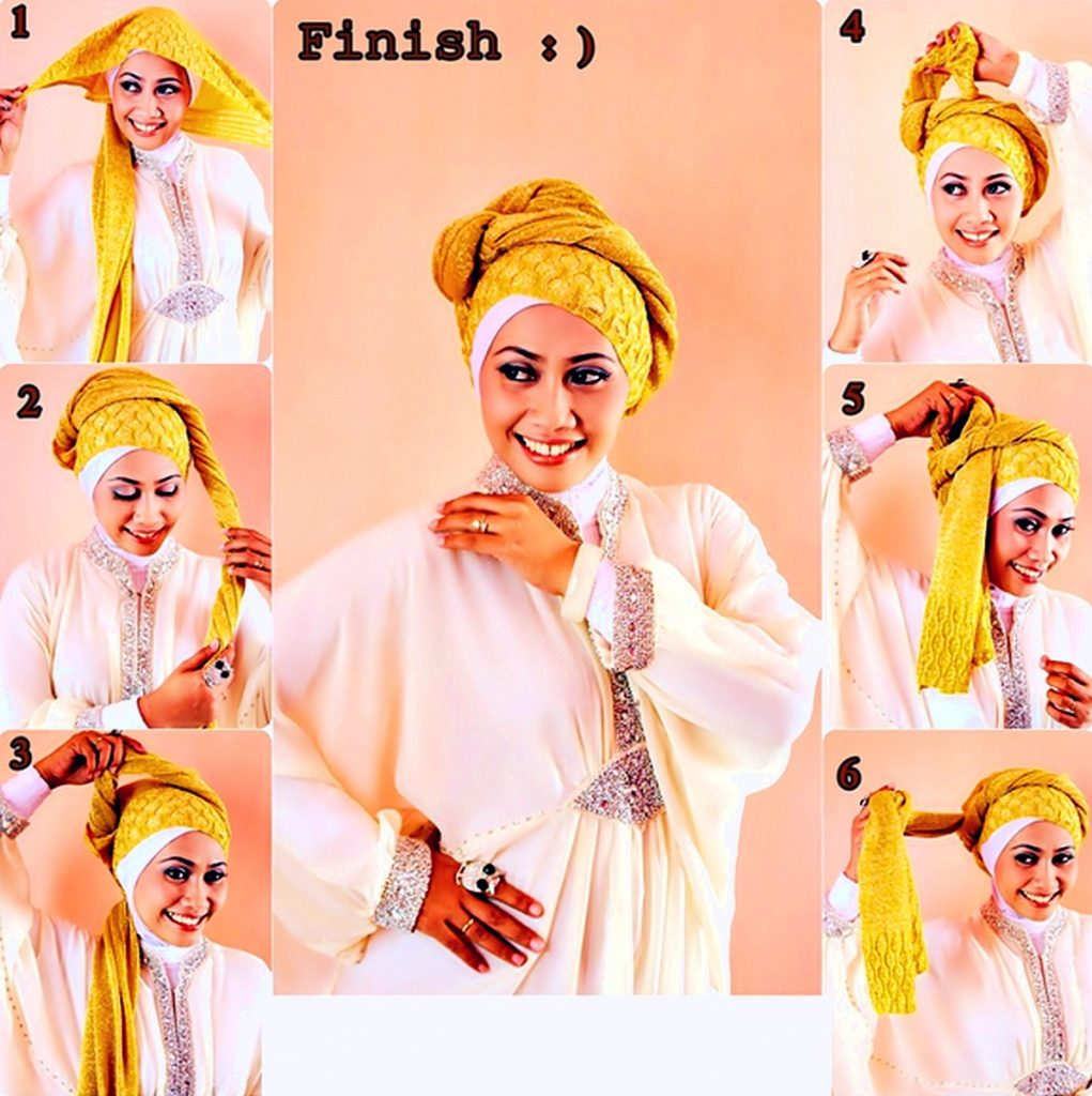 tutorial hijab pesta segi empat4